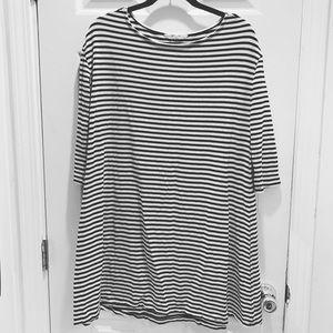 Bb Dakota black white striped dress